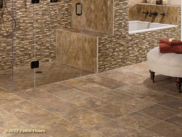 Gorgeous Stone And Tile Floors From Fante Flooring - Custom cut ceramic tile